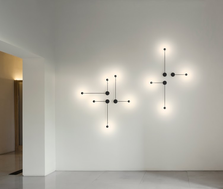 Light murals by vibia furnishing international for Mural lighting