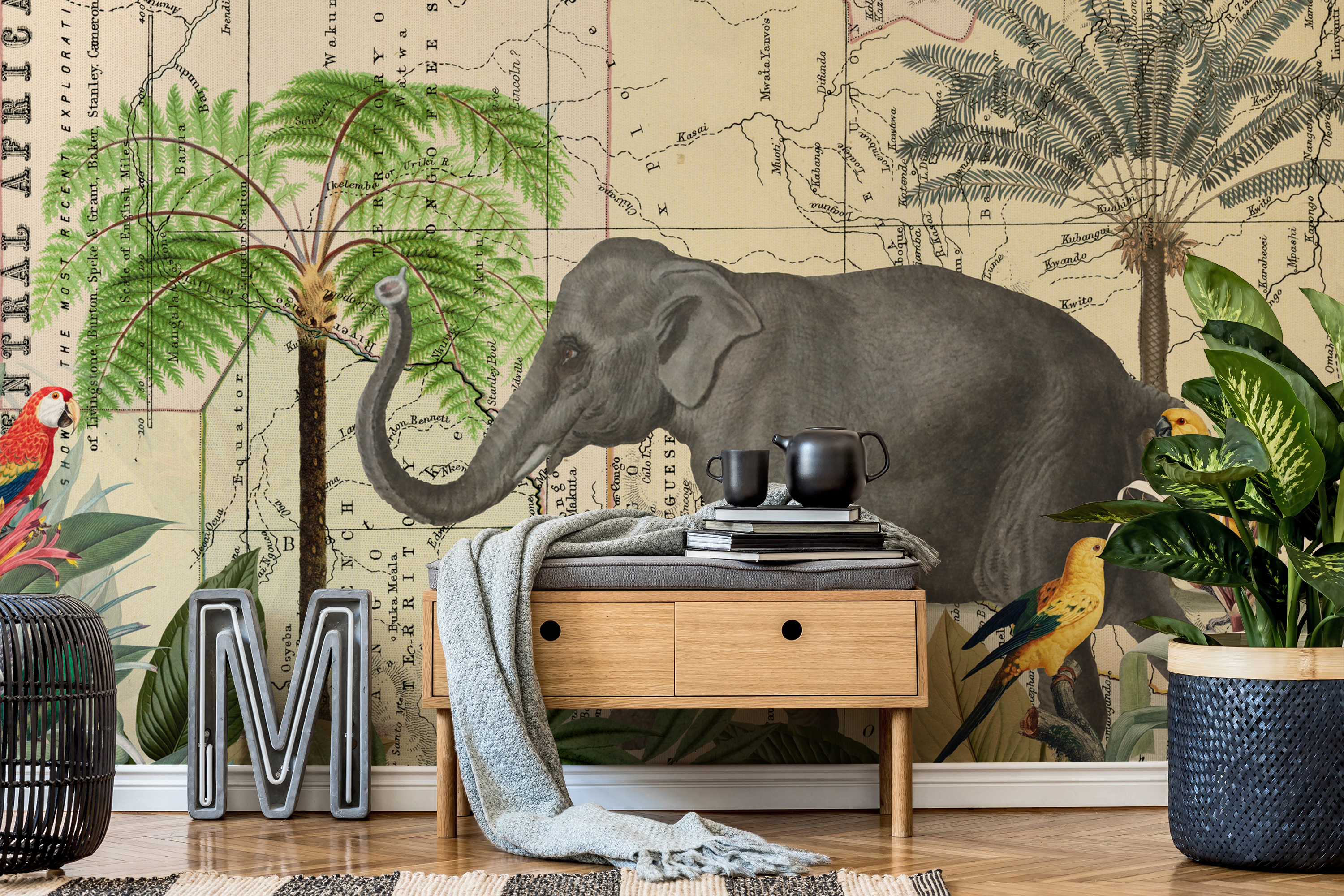africa-explore-quer-mural-by-andrea-haase-at-wallsauce-com