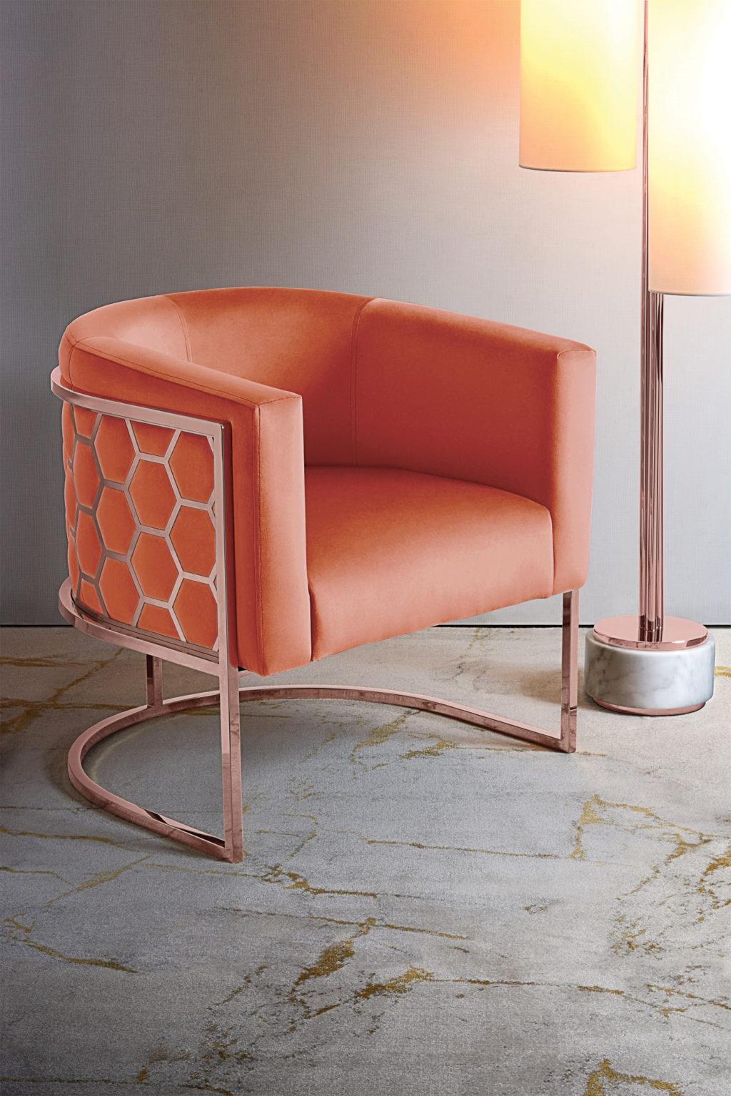 alveare-tub-chair-copper-orange