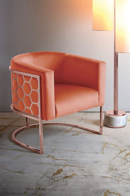 alveare-tub-chair-copper-orange