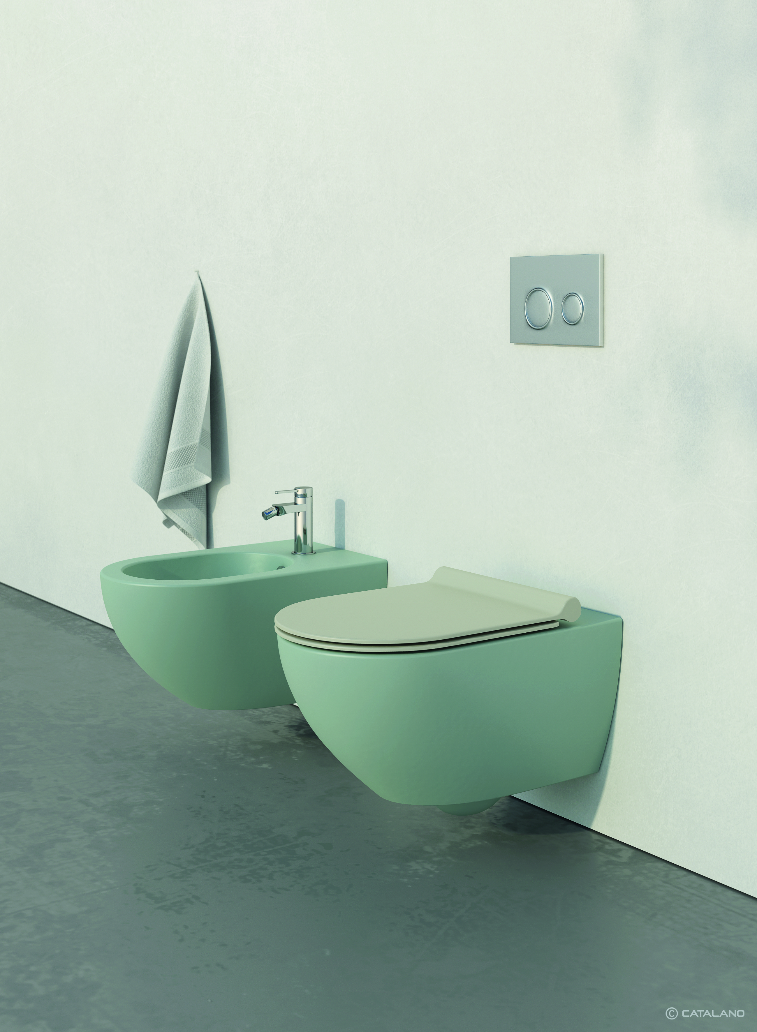 catalano-sfera-wall-hung-pan-and-bidet-satin-green