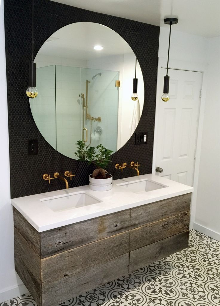 A Bathroom Is Also Not A Room You Would Expect To Find A Round Mirror Which  Lends It That Much More Impact.