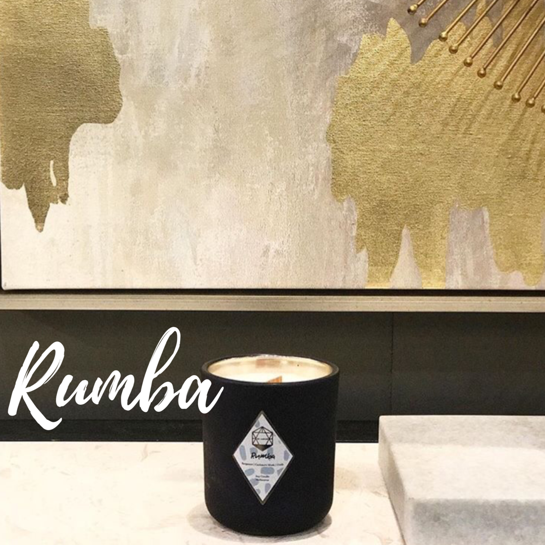 Rumba: Swing your hips to this Rumba beat! A pinch of intimate flavour, voluptuous swings and sassy notes combine to create our Rumba scent. Sensual vibes drift through the top notes of Bergamot, Violet Leaf, and Cardamom with smooth hints from the Cashmere Musk and Fir Needle.