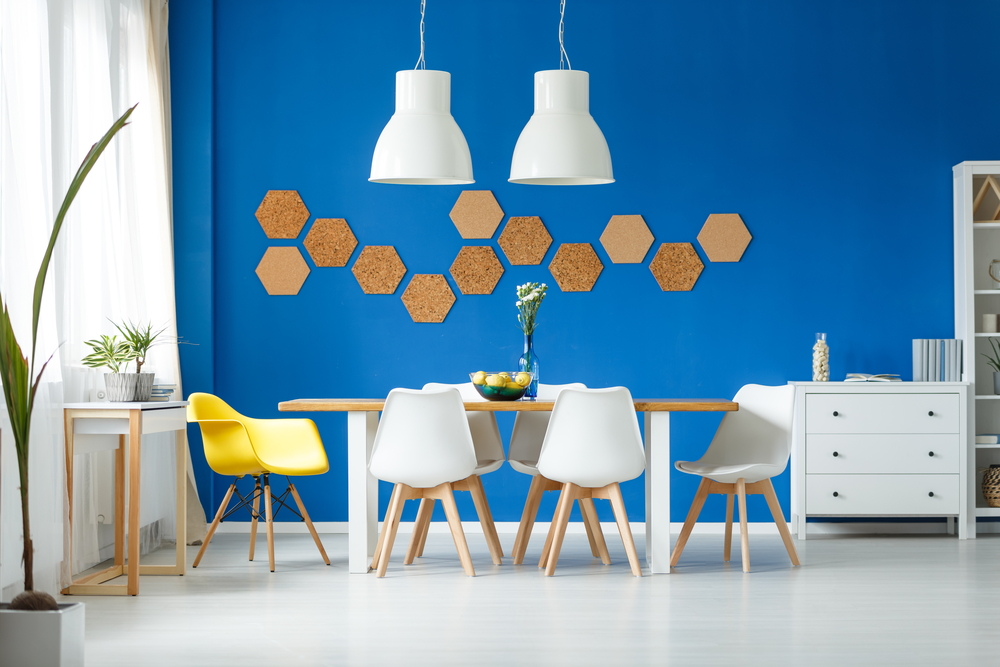Trendy room with yellow chair