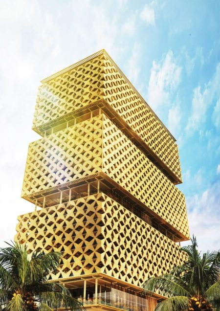 Lagos's Wooden Tower by Hermann Kamte & Associates