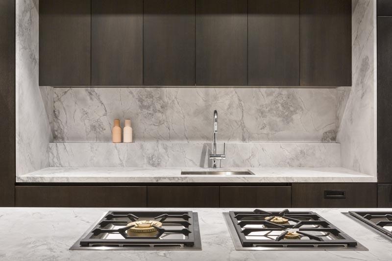 Artedomus Stone White Fantasy Honed YVE Apartments by BIASOL: Design Studio. Photo © Ari Hatzis