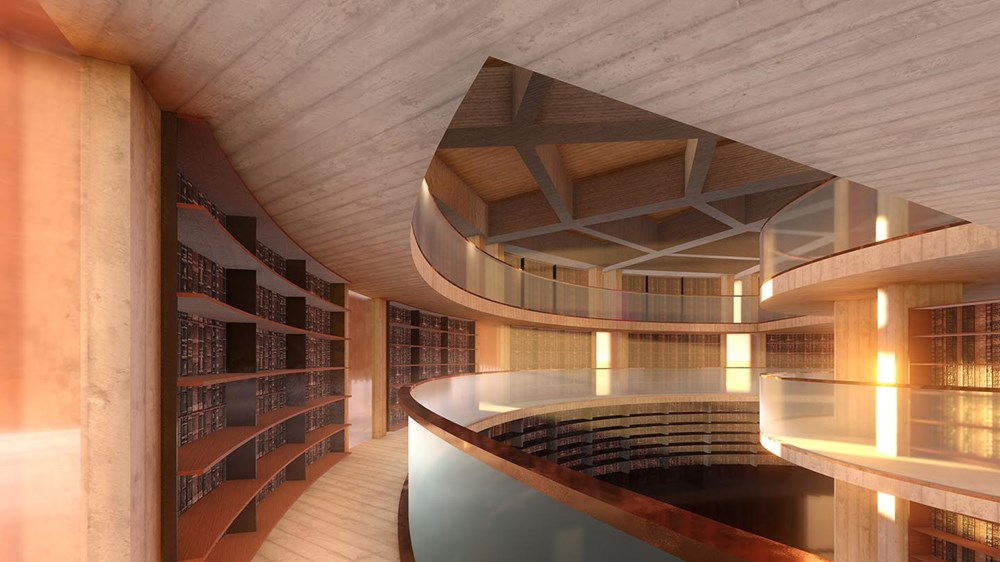 An artist's impression of the Library inside HOMO - courtesy of Fender Katsalidis Architects